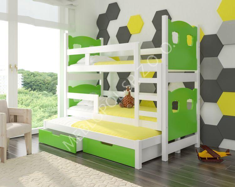 łóżko Piętrowe 3 Osobowe Lola 2