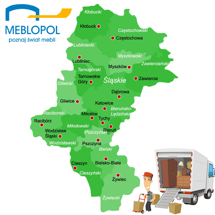 Transport mebli - Slask - Meblopol